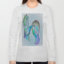 ASL Grandfather in Blue Overtones Long Sleeve T-shirt