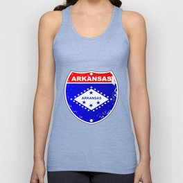 Arkansas Interstate Sign Unisex Tank Top