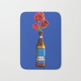 Dudes Love Roses (Blue) Bath Mat