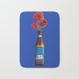 Dudes Love Roses (Blue) Bath Mat