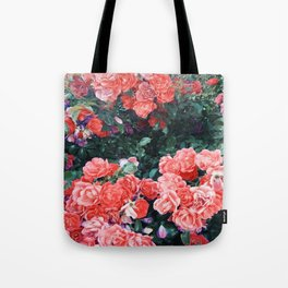 Psychedelic summer florals Tote Bag