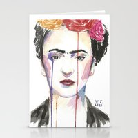 frida Stationery Cards featuring Frida by SirScm
