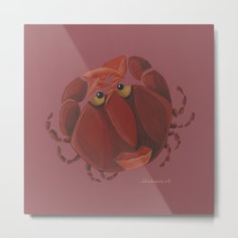 Cancer (wine red) Metal Print