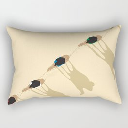 Camel caravan Rectangular Pillow
