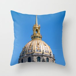 Hotel des Invalides dome in Paris Throw Pillow