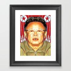 KIM JONG-IL Framed Art Print