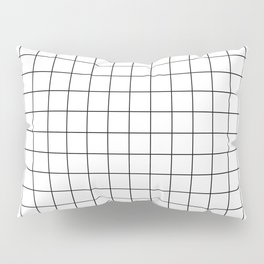 Grid White Pillow Sham