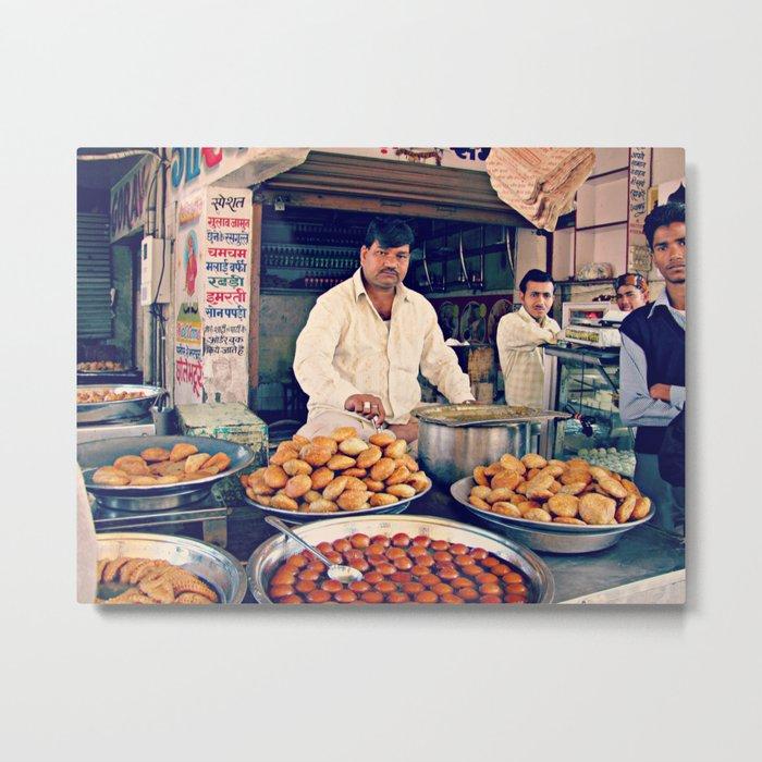 Indian Food  Metal Print