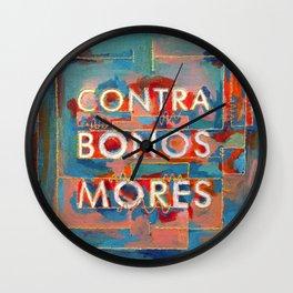 Against Good Morals Wall Clock