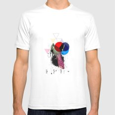 bird colours MEDIUM Mens Fitted Tee White