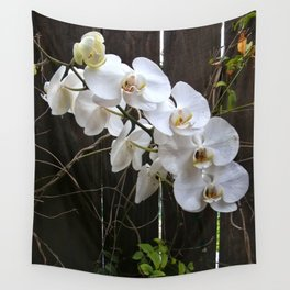 White Orchid Wall Tapestry