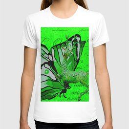 Butterfly REINDEER CELEBRATION in Green and White T-shirt