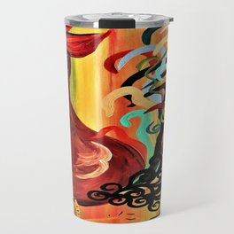 Curly Rooster Travel Mug