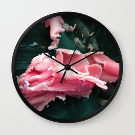Floral Fat Wall Clock