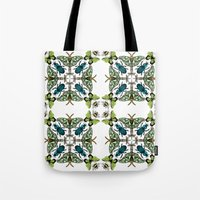 insects Tote Bags featuring Insects by Phyllida Jacobs