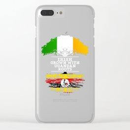 Irish Grown With Ugandan Roots Clear iPhone Case