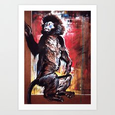 Javan Langur Monkey Art Print
