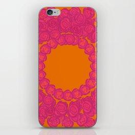 Pink Rose Wreath iPhone Skin