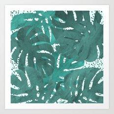 Monstera delight II Art Print