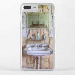 Le Manoir de la Pomme - La salle de bain II Clear iPhone Case