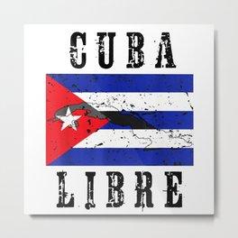 Cuba Libre Cuban Flag Metal Print