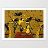 lemongrab Art Prints featuring Lemongrab by Ana Rocha