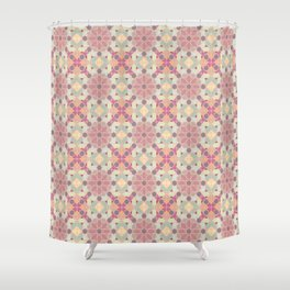 modern arabic pattern in pastel colors Shower Curtain