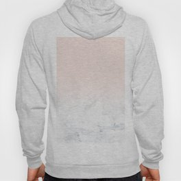Modern girly pastel blush pink ombre gradient white marble Hoody