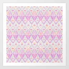 Soft Tribal Petal Art Print