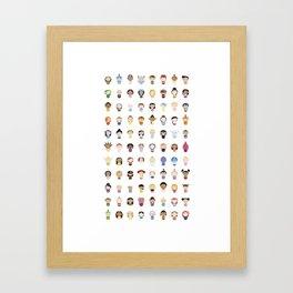Animations Girls Framed Art Print