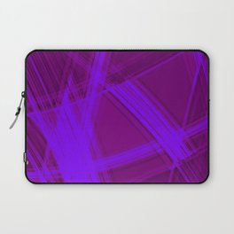 Mirrored edges with dawn diagonal lines of intersecting glowing bright energy waves.  Laptop Sleeve