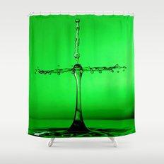 green splash Shower Curtain