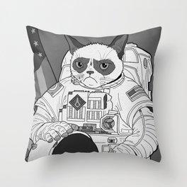 The Grumpiest Astronaut Throw Pillow