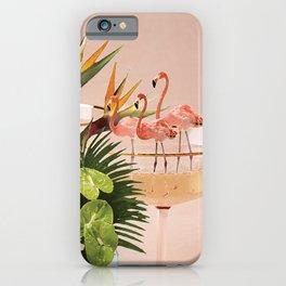 Flamingo Cocktail iPhone Case