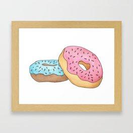 D is for Donut Framed Art Print