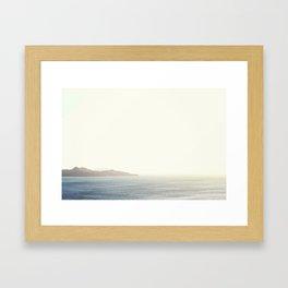 Playa Flamingo Framed Art Print