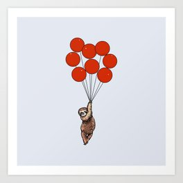 I Believe I Can Fly Sloth Art Print