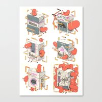 cigarettes Canvas Prints featuring Cigarettes Deluxe by Kensausage