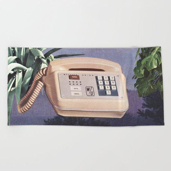 Late Nite Phone Talks Beach Towel