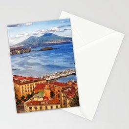 Italy, the gulf of Naples seen from the Posillipo hill Stationery Cards