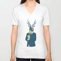 suits V-neck T-shirts featuring Suits me by DisdainGlittersGold
