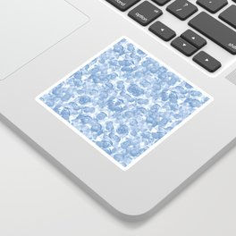 Blue Floral Seamless Pattern Sticker