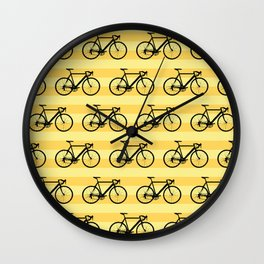 Bicycle pattern Wall Clock