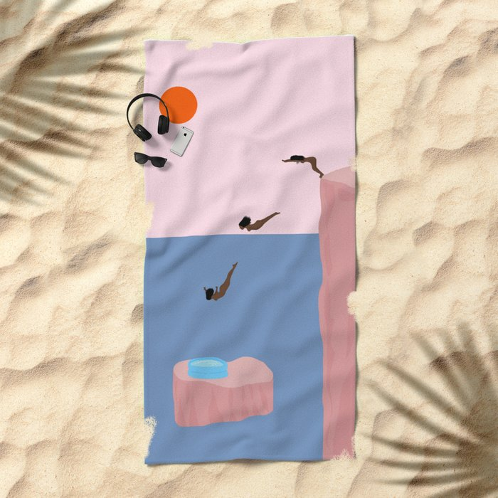 Dive//Survive Beach Towel