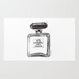 Perfume no.5 illustration  Rug