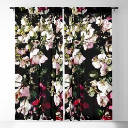Hellebores Dark Garden Blackout Curtain