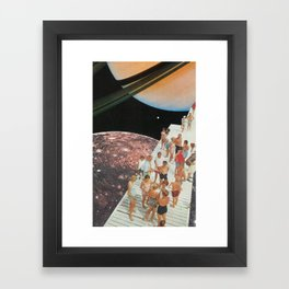 People of Titan Framed Art Print