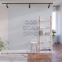 God. Goals. Grind. Wall Mural