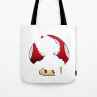 super mario Tote Bags featuring Super Mario by SEANLAR94