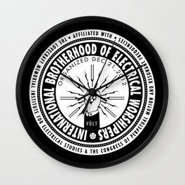 IBEW - International Brotherhood of Electrical Worshipers Wall Clock